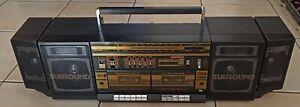 Gros poste Radio Doubles cassettes Artech surrond vintage datant des  années 80