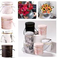 Flowers Boxes Round Paper Vases Florist Box Handheld Bouquet Plant Flowers Boxes