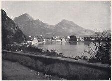 D2354 Riva di Trento - Veduta generale - Stampa d'epoca - 1925 vintage print