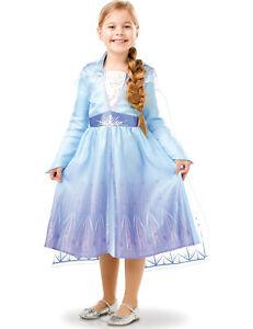 Elsa Frozen 2-Kostüm für Mädchen Lizenz-Kostüm blau-lila - Cod.325930