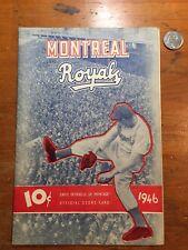 1946 Montreal Royals Program w Jackie Robinson & Yogi Berra in Lineup Playoffs