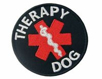 Therapy Dog EMS Medic Paramedic MED Embroidered Fastener Hook & Loop Patch Badge