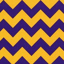 Yellow GOLD Purple Chevron RETRO Riley Blake CHEVRON Fabric SALE Funky FQ