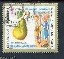 TUNISIE 1971, timbre 704, FLORE, FRUITS, POIRE, oblitéré cachet rond