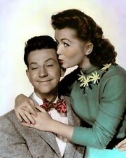 """DONALD O'CONNOR DEBBIE REYNOLDS I LOVE MELVIN 1953 8x10"""" HAND COLOR TINTED PHOTO"""