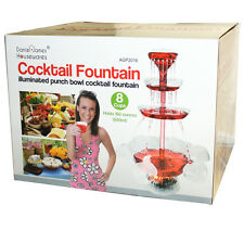 ELECTRICAL ILLUMINATED PUNCH BOWL COCKTAIL FOUNTAIN BEVERAGE HOUSE PARTY 8 CUPS