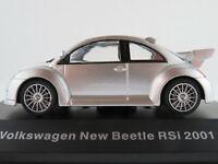 DeAGOSTINI #26 VW New Beetle RSi (2001) in silbermetallic 1:43 NEU/PC-Vitrine