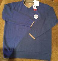 NWT Antigua Mens Crew Sweater Toronto Blue Jays Lg Long Sleeve FREE  SHIPPING 3A