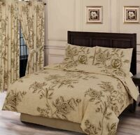 OLD ROSE NATURAL BEIGE  DUVET COVER SET CHOICE DOUBLE KING OR SUPERKING SIZE