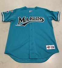 VTG 1997 World Series Florida Marlins Mens L Jersey Majestic Diamond Collection