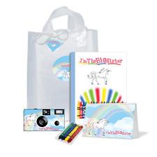 I'm The Big Sister Gift Bag-Unicorn-disposable camera/kids camera (Pkg123)
