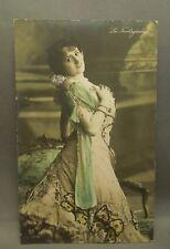 Antique 1907 Pin Up Girl La Tortajadal Colorized German Postcard