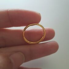 Solid Real14k Yellow Gold Wedding Anniversary Band Ring Regular Fit 3mm.Size 6.5