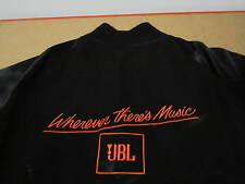 JBL Speakers satin jacket revelation rags size L vtg black shiny material nylon