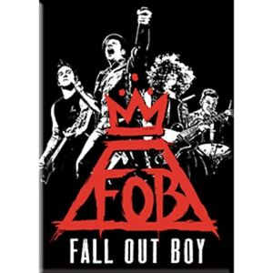 Fall Out Boy - Fridge Magnet - Group - Red Crown Logo - Licensed New