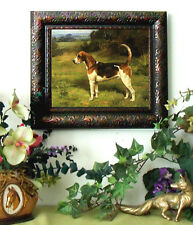Haigh Fox Hunt Hound Dog Horse Print Antique Vintage Styl Framed 11X13 fh