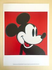 "ANDY WARHOL RARE VTG 1995 LITHOGRAPH PRINT POP ART POSTER "" MICKEY MOUSE "" 1981"