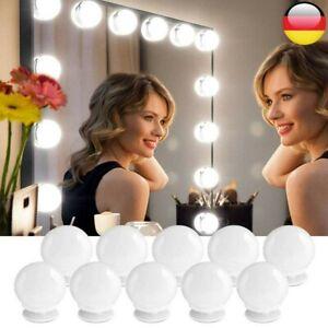 10 LED Spiegel Lichter Lampen Beleuchtung für Hollywood Make Up Schminktisch DHL