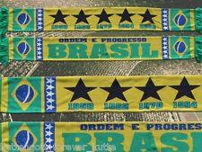 "Brasilien Schal ""BRASIL"" 3 Selecao WM 2014 Fan Ordem e Progresso +neu+100%Acryl+"