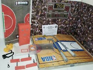 NBA Heroes Ultimate Game Court Basketball Two-Sided Playset RARE Jazwares