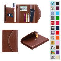613312636ea8 Passport Holder Wallet Trifold RFID Blocking Travel Document Organizer Case