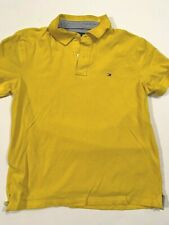 Tommy Hilfiger 100% Cotton Short Sleeve Yellow Polo Shirt Men's Large
