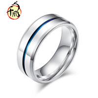 Cool Men&Women Stainless Steel Titanium Band Ring Wedding Engagement Size 6-13
