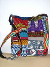 bunte Tasche Umhängetasche aus Ghana Afrika (1) - Patchwork Baumwolle - NEU