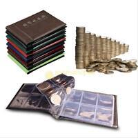 60 Slot Money Penny Pocket Coin Collection Holder Storage Album Book Case Folder