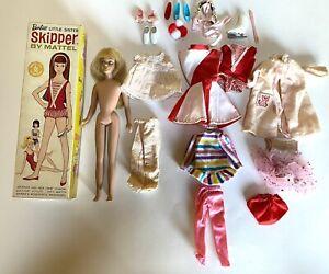 Vintage 1963 Skipper w/ Original Box Extra Clothes & Accessories Mattel
