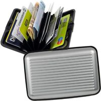 FABRIZIO Aluminium Brieftasche Börse EC-Kartenetui Kreditkartenetui Geldbeutel