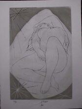 Pierre-Yves TREMOIS - Gravure au burin signée numérotée Femme seule 1968 **