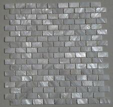 white shell mosaic mother of pearl kitchen backsplash bathroom wall brick tile