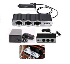 3 way Charger Triple Socket Splitter Cigarette Lighter Adapter Plug + USB Port,