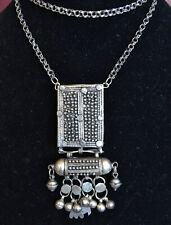Yemenite silver necklace, vintage silver necklace, antique long necklace (Y34)