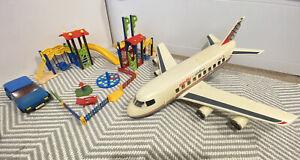 Playmobil Large Pacific Airline Cargo Aeroplane 4310 Car 3739 & Play Park Bundle