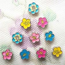 Random 10PCS mixed flower floating charm for glass living memory locket #116