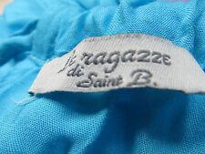 Turquesa, con cuentas, cuello halter, 3/4 Assymetrical cóctel vestido, raggaze, TI, lge