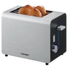Cloer Toaster 3519 Alu-Silber wärmeisoliertes Gehäuse Brötchenaufsatz 825 Wa