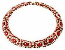 Amrita Singh Bangle Necklace Sagaponack Crystal Choker Necklace 12.5in