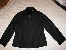 Women's Hillard & Hanson Black Lightweight Coat Jacket - M - Zip Front