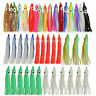 60Pcs Octopus Squid Skirt Lures Bait Saltwater Fishing Soft Lure 5-12CM