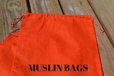 6x8 inch Orange Double Drawstring bags~25,50,100,200