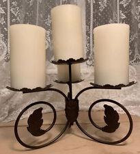 PartyLite Retired Leaf Viking Centerpiece Candle Holder