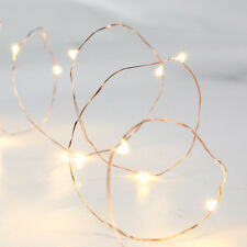 2m Home Copper Micro Wire Wedding Party Battery String Fairy Lights 20 LEDs Warm White