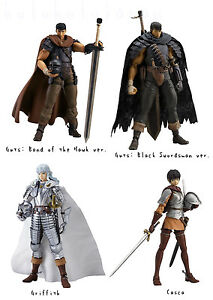 "figma "" BERSERK "" Guts Griffith Casca & Black Swordsman action figure from Japan"