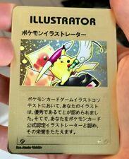 Pokemon Illustrator Pikachu Gold Metal Custom Card