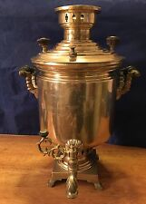 Large Antique Russian Brass Samovar - Tula - very popular design - Soviet Union