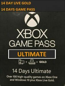 XBOX One Only Game Pass+live ULTIMATE 14 DAYS INSTANT DELIVERY