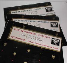 SXL 2125-7 Bach Brandenburg Concertos / Munchinger WBG 3 LP set
